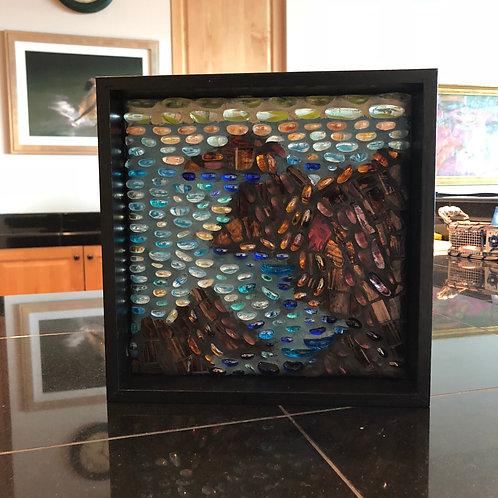 """""""Land's End after Monet"""" print in back frame"""