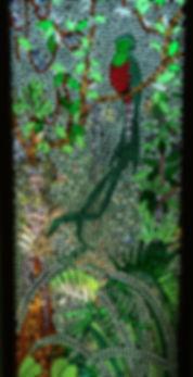 mosaic window of Quetzal
