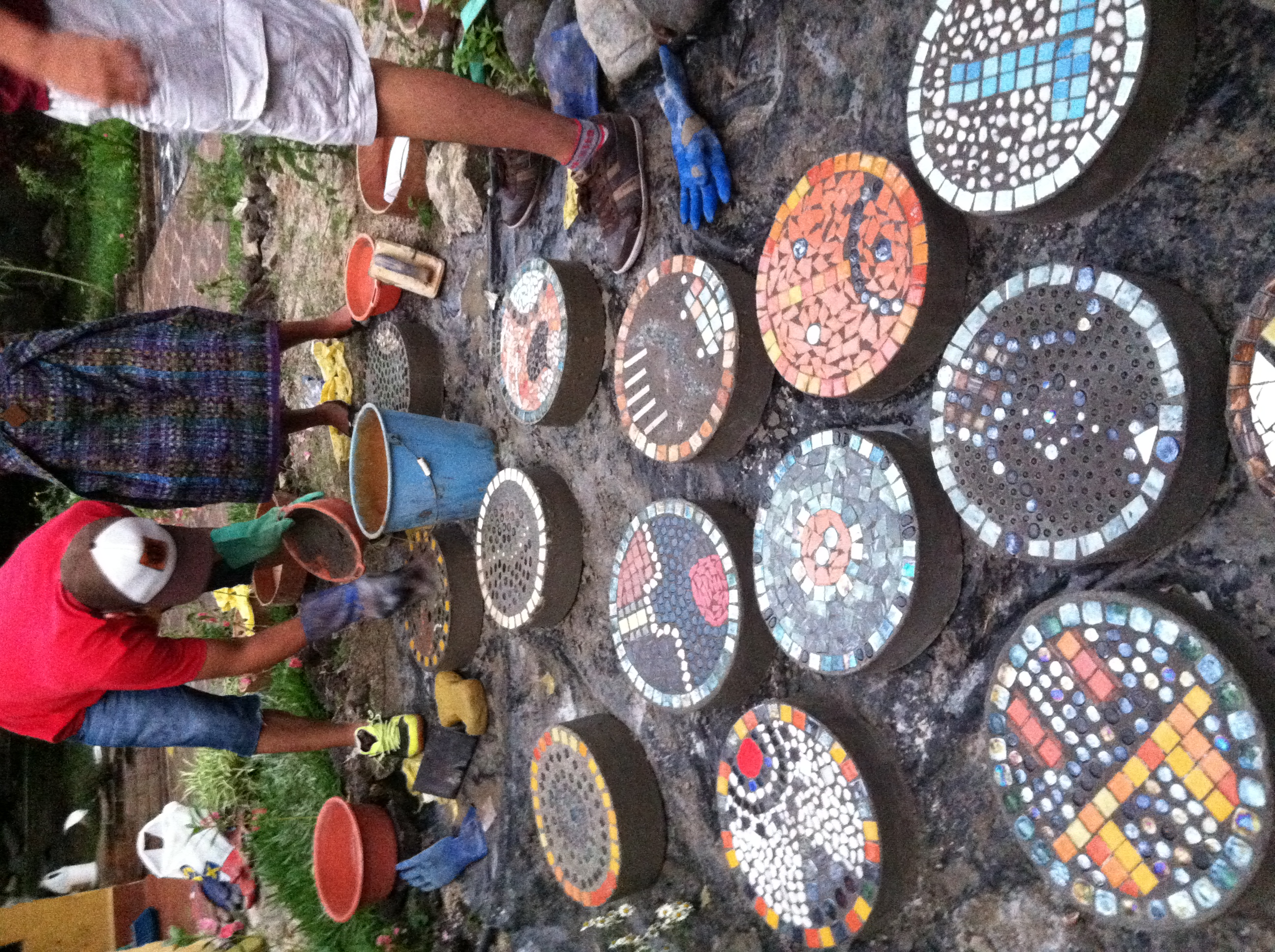 Grouting finished pieces