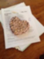 mosaic heart paperweight