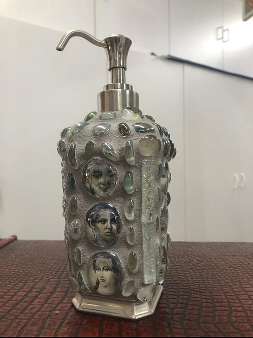 """Beautiful Women"" soap/lotion dispenser"