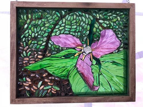 """""""Trillium"""" original mosaic light painting"""