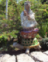 mosaic garden sculpture of Quan Yin