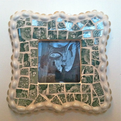 Green Spode Mosaic Frame