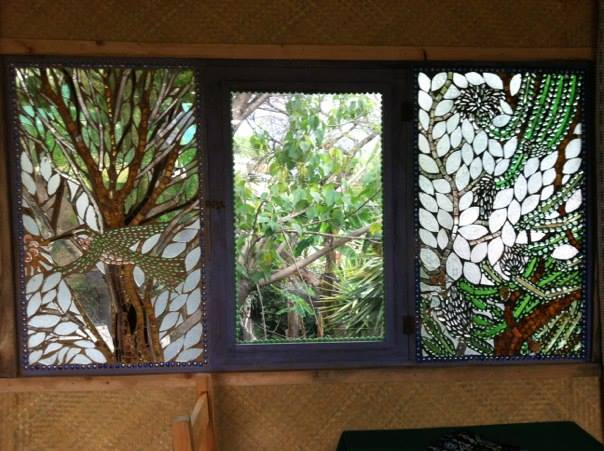 Facebook - Hummingbird and Pitaya windows at Cafe La Puerta