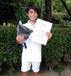 準優勝:小山 玲依くん(新豊TC)