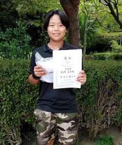 準優勝:島崎 真弥風さん(新豊TC)