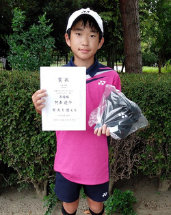 準優勝:阿南 遼介くん(新豊TC)