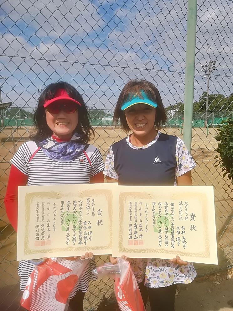 新座市民総合体育大会硬式テニスの部一般女子(中級)
