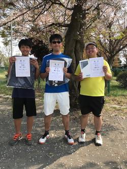 春季シングルス大会 一般男子初級