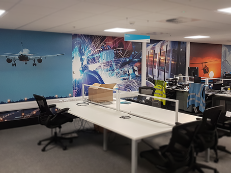 Transforming Office Spaces with Image Walls