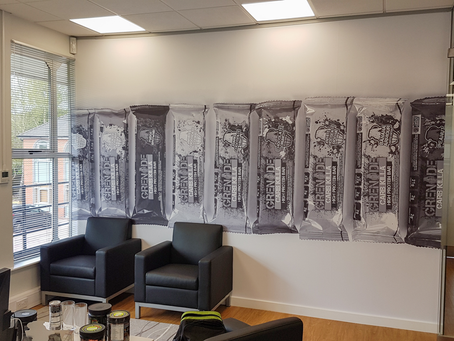 Product Display Image Walls for Grenade Offices