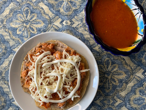 Food stories: Sopa de Fideos and Chicken Tinga Tostada