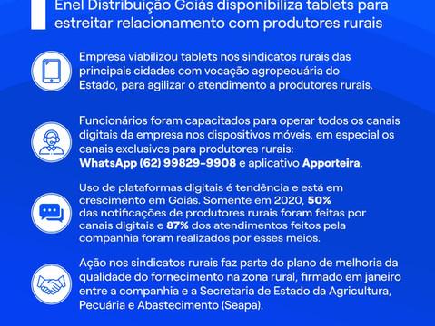 Enel disponibiliza tablet em Cristalina para atender produtores rurais da região