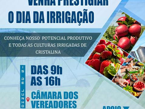 Primeira Amostra de Produtos Irrigados de Cristalina acontece nesta terça-feira