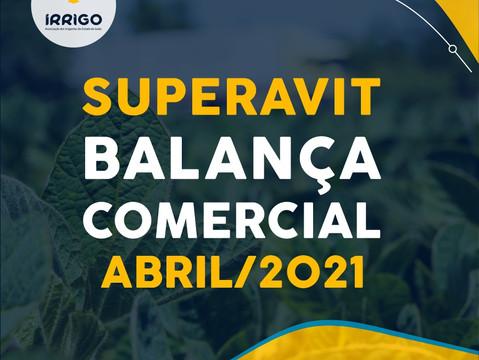 Balança Comercial em abril fecha com superavit, somando US$ 10,35 bilhões