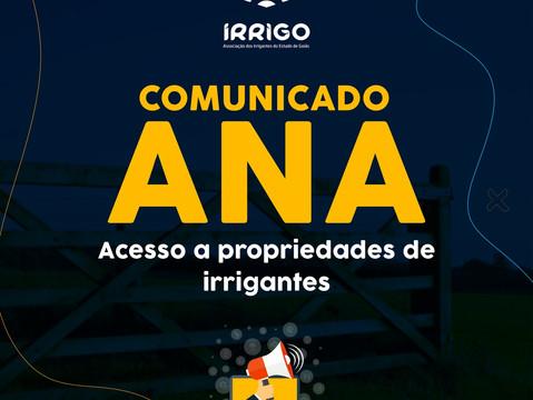 COMUNICADO ANA: Instalação de estações hidrométricas