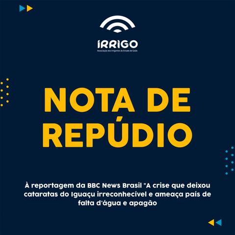 NOTA DE REPÚDIO: À reportagem da BBC News Brasil acerca da irrigação em Cristalina