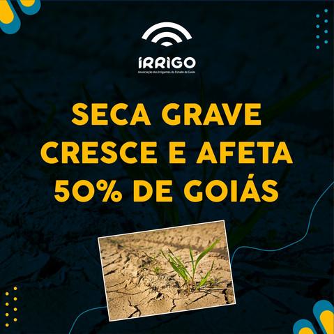 Seca grave cresce e afeta 50% de Goiás