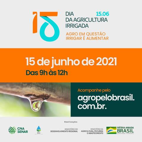Dia da Agricultura Irrigada: Evento traz painéis com autoridades da área de irrigação