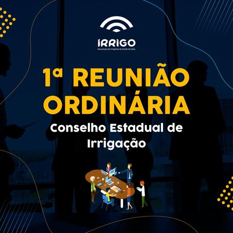 IRRIGO participa da 1a Reunião Ordinária do Conselho Estadual de irrigação