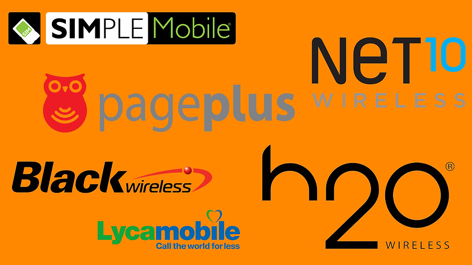 Cell Providers: Simple Mobile Black Wireless H20 Wireless LycaMobile Net10 Wireless And Page Plus