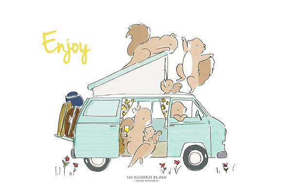 """Carte """"Enjoy"""""""
