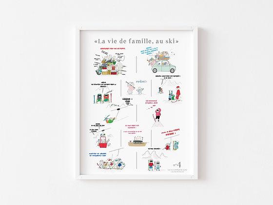 Affiche La vie de famille. Au ski. n°4