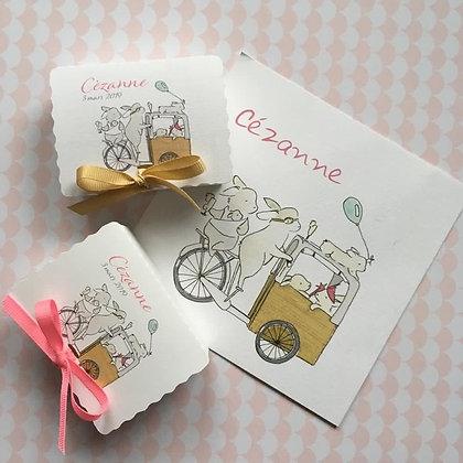 Illustration pour boîtes de dragées