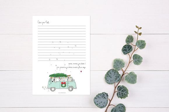 Papier à lettre Père Noël