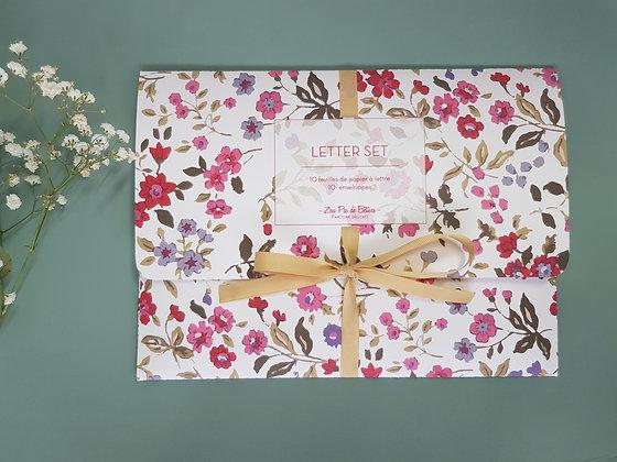 Letter set flower