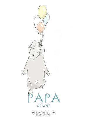"""Carte """"Papa"""" à personnaliser 1, 2, 3 ou 4 enfants !"""