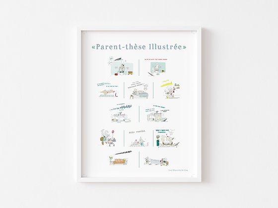 Affiche Parent-Thèse illustrée n°1