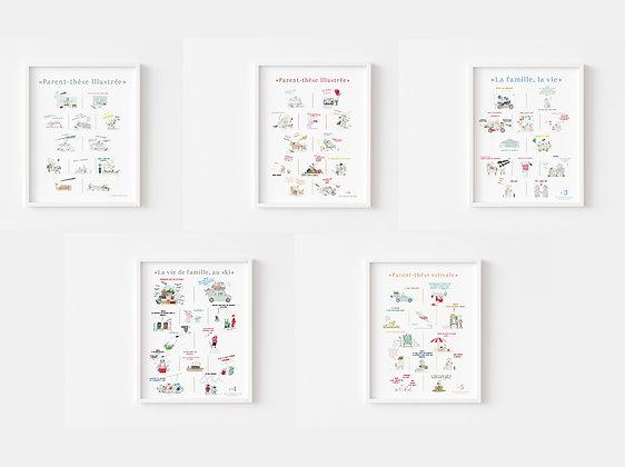 Pack 5 affiches Parent-thèse