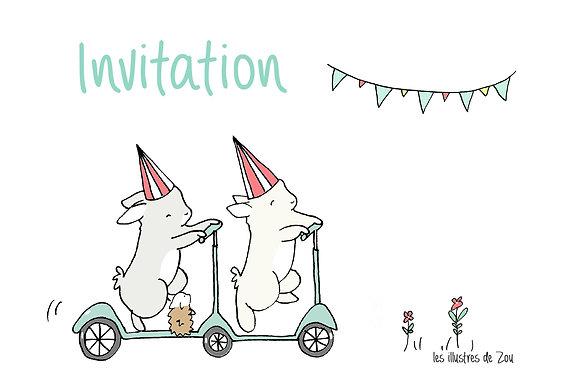 Invitation anniversaire (par 5)