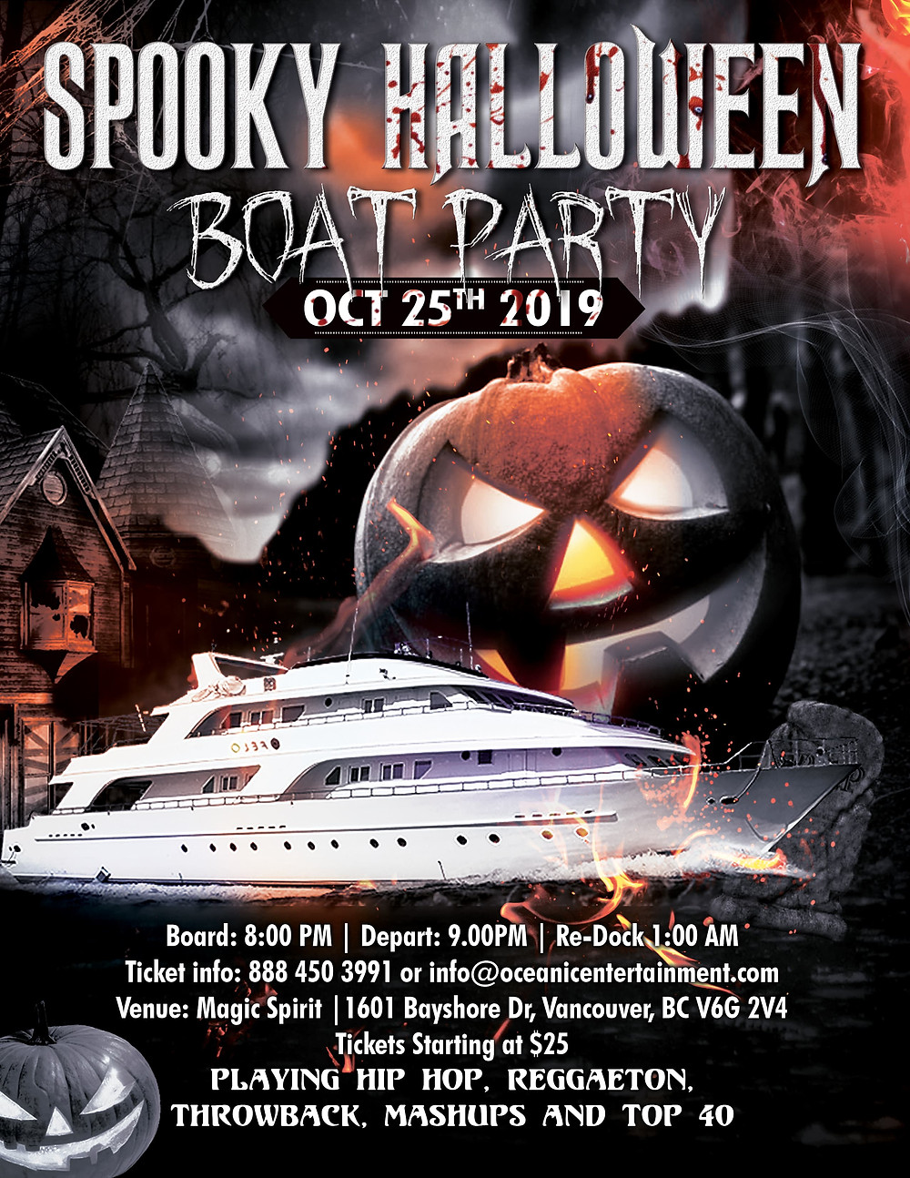 Spooky Halloween Boat Party Vancouver. Things to do Halloween