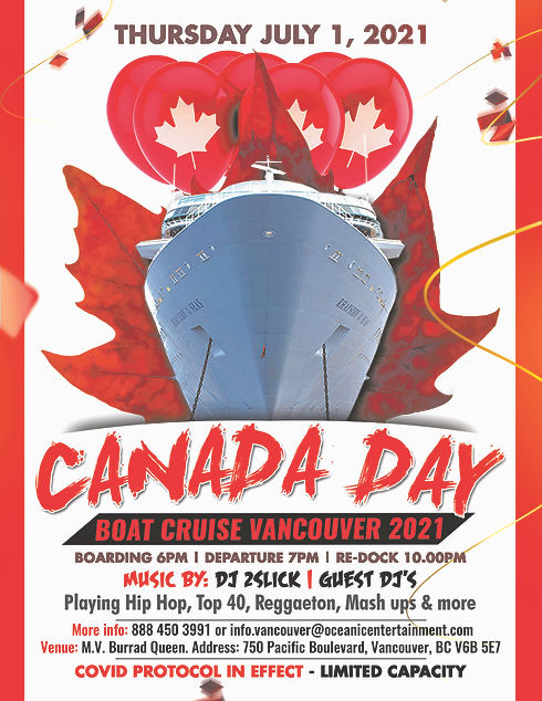 Canada Day Boat Party Vancouver Oceanic