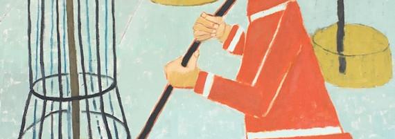 Der Philosoph, Öl auf Leinwand, 185 x 185 cm, 2005