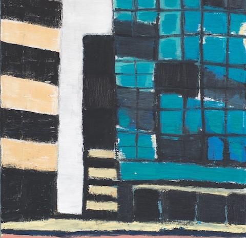 Bei Aldi, Öl auf Leinwand, 50 x 40 cm, 2005