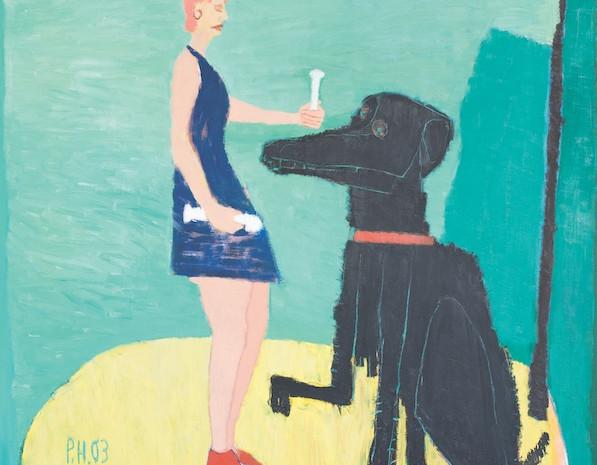 Hab' mich lieb, Öl auf Leinwand, 200 x 200 cm, 2003