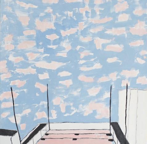 Morgenhimmel, Öl auf Leinwand, 100 x 80 cm, 2007