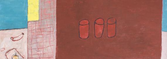 Imbiss, Öl auf Leinwand, 200 x 200 cm, 2018