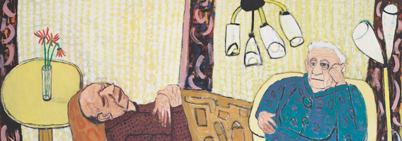 Sonntagnachmittag, Öl auf Leinwand, 125 x 315 cm, 2003