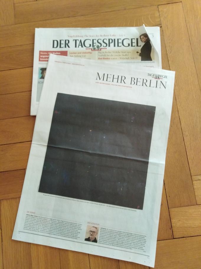 Uli FISCHER - in the newspaper DER TAGESSPIEGEL