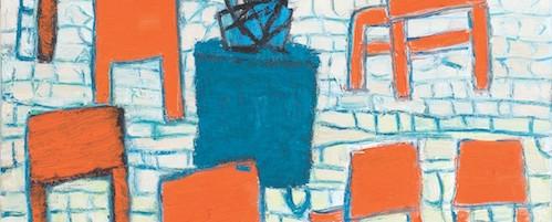 Blauer Garten, Öl auf Leinwand, 60 x 50 cm, 2011