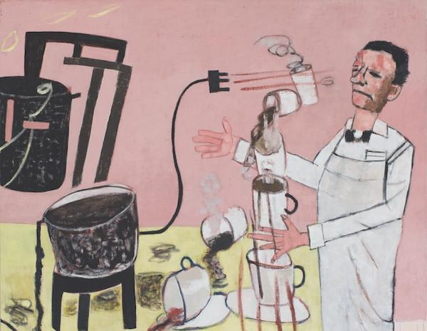 Aufruhr, Öl auf Leinwand, 185 x 370 cm, zweiteilig, 2004