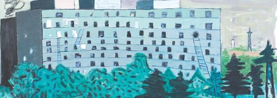 Ankunft, Öl auf Leinwand, 170 x 190 cm, 2012