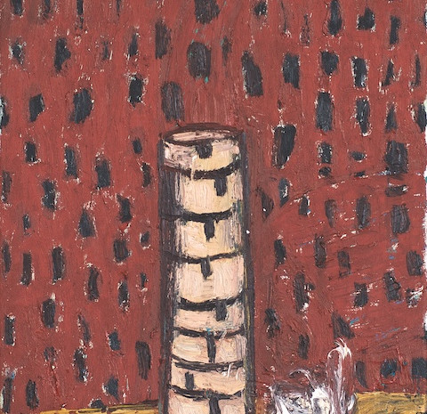 Aschenbecher, Öl auf Leinwand, 50 x 40 cm, 1989
