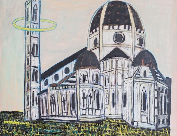 Carta postale per Angelica, Öl auf Leinwand, 200 x 200 cm, 1998