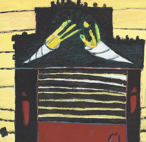 Gelber Imbiss, Öl auf Leinwand, 50 x 40 cm, 2006